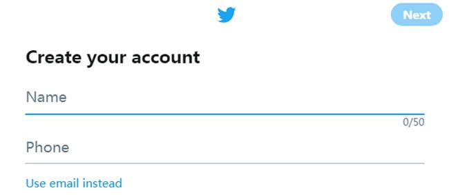 llenar información de twitter