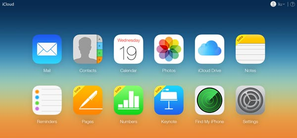 iCloud Backup από το Official Webiste