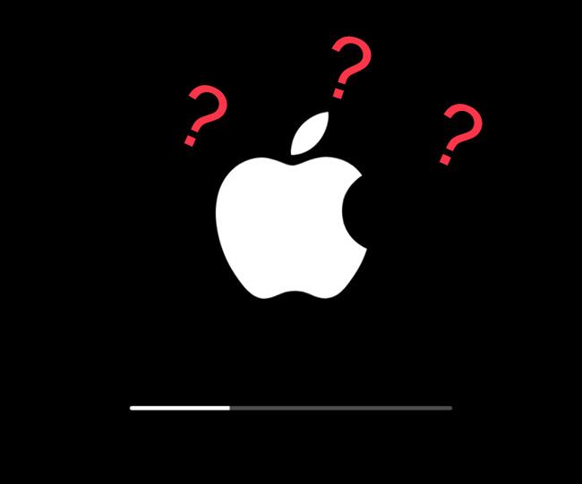 iPhone卡在蘋果徽標上