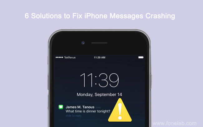 Fix iPhone Messages Crashing