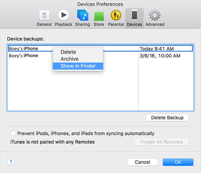 How to Find iTunes Backup on Mac and Windows
