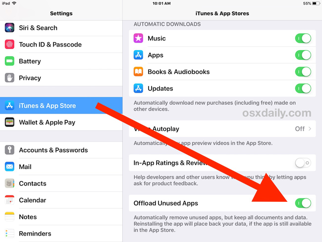 Offload Unused Apps on iPhone