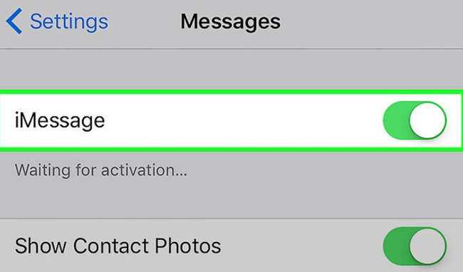 Reactivate iMessage