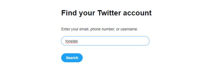 restablecer la contraseña de twitter