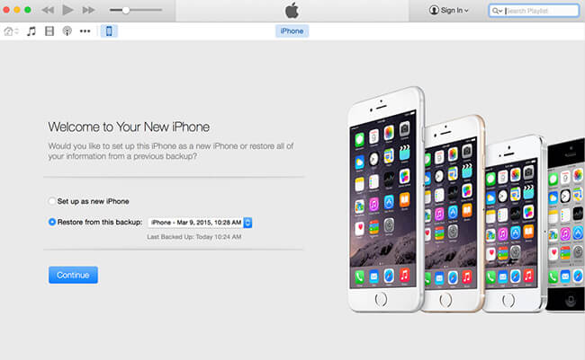 İPhone'dan iTunes'u Geri Yükle