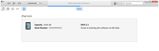 restaurar o ipad itunes