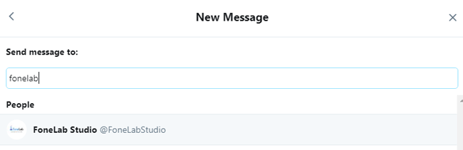 how to send a message on twitter