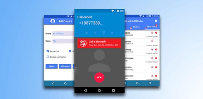 Bloqueador de SMS, bloqueador de llamadas