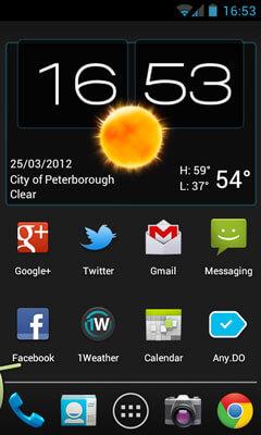 Wetter & Uhr Widget Android Screenshot