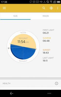 WeatherUnderground Screenshot