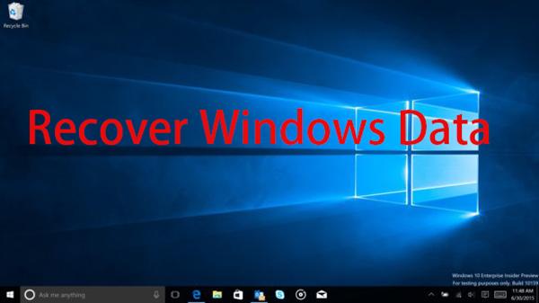 Windows adatok helyreállítása
