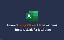 Gjenopprette ødelagt Excel-fil på Windows