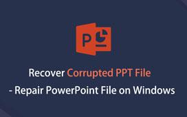 Gjenopprette ødelagt PPT-fil