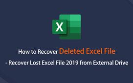 Gjenopprett ikke-lagret Excel-fil 2019 fra eksternt stasjon