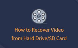 hvordan du gjenoppretter video fra sd-kort eller harddisk