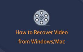 Gjenopprette slettet video fra PC