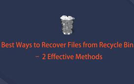 ごみ箱から削除されたファイルを回復する