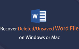 Récupérer un document Word sur Mac / Windows