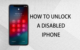 Lås opp en deaktivert iPhone
