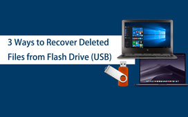 3 Formas de Recuperar Arquivos Excluídos do Flash Drive USB no Windows / Mac