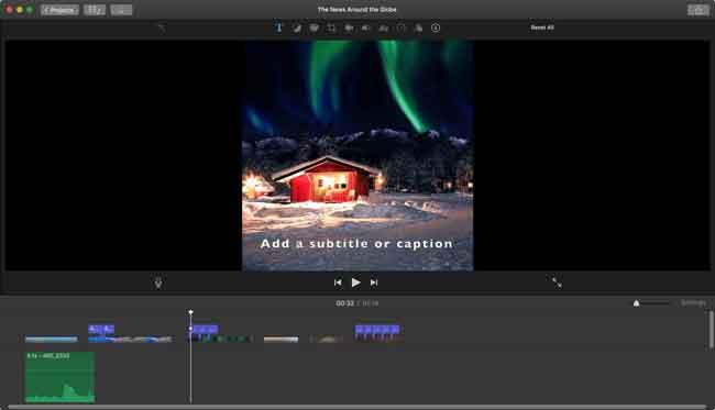 mac imovie Untertitel hinzufügen