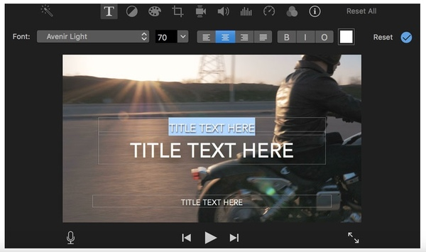 Füge Text per Imovie zum Video hinzu