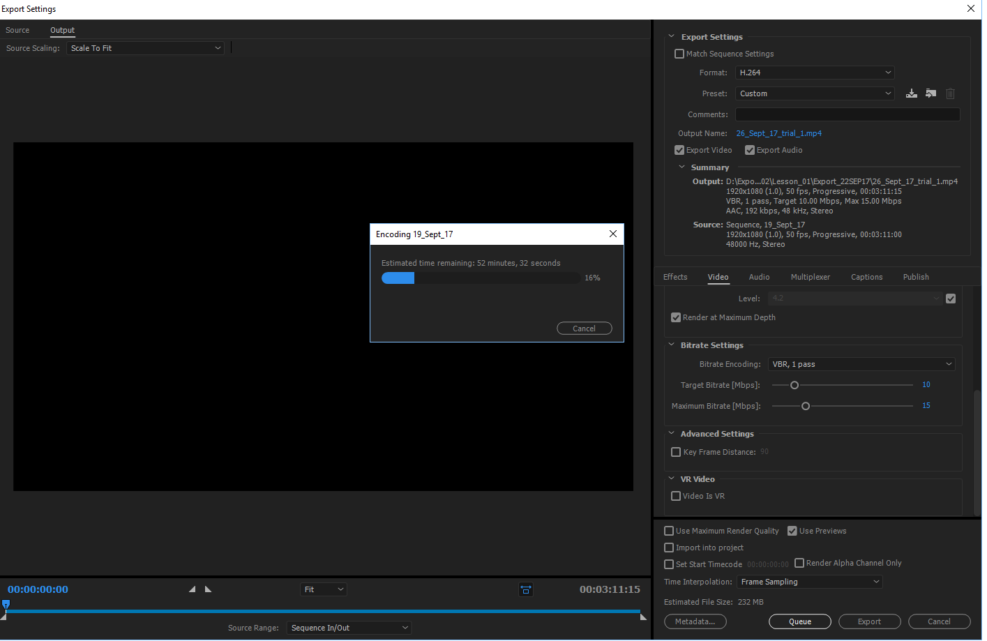 Adobe Premiere Pro導出文件