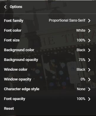 在YouTube上更改字幕顏色