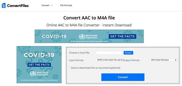 dönüştürücü aac m4a çevrimiçi