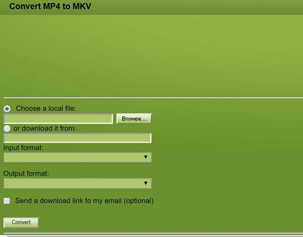 Convert MP4 to MKV via ConvertFiles