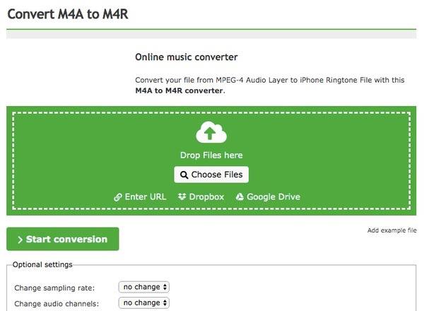 在線將m4a轉換為m4r