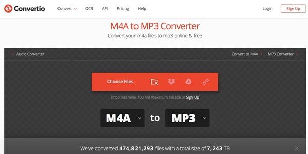 在線將m4a轉換為mp3