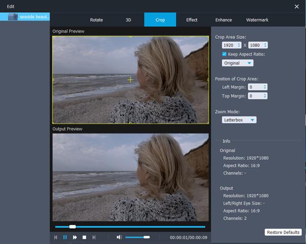 Videoformat zuschneiden