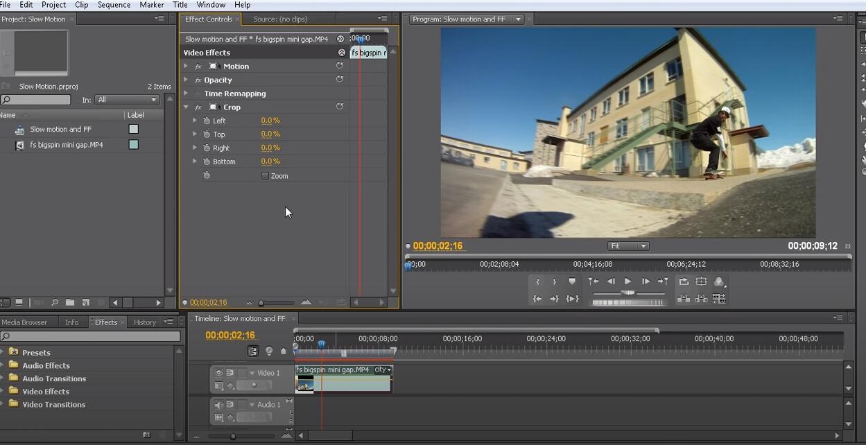 Adobe首映裁剪視頻
