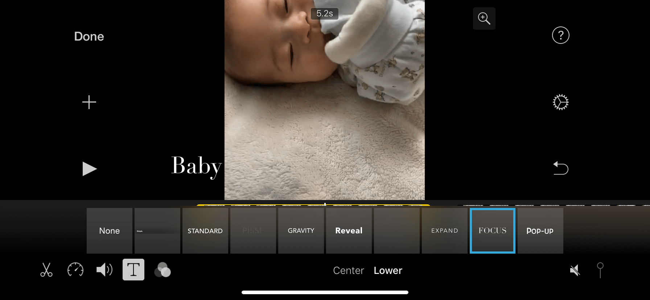 iphone imovie Untertitel hinzufügen
