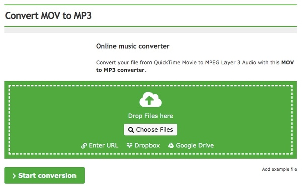 online converter mov to mp3