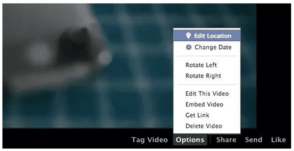 rotate facebook video after uploading