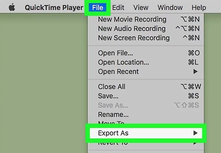MOV über Quicktime Save File drehen