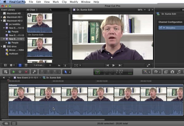 Remove Audio from MP4 by Final Cut Pro