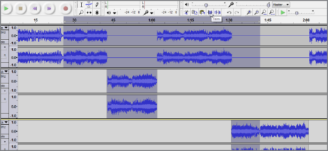 audacity trim audio