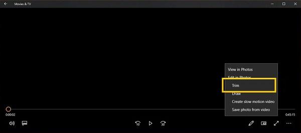 Video mit Filmfernsehen zuschneiden